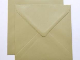 Lustre Print Silver Square Envelopes - Pearlised
