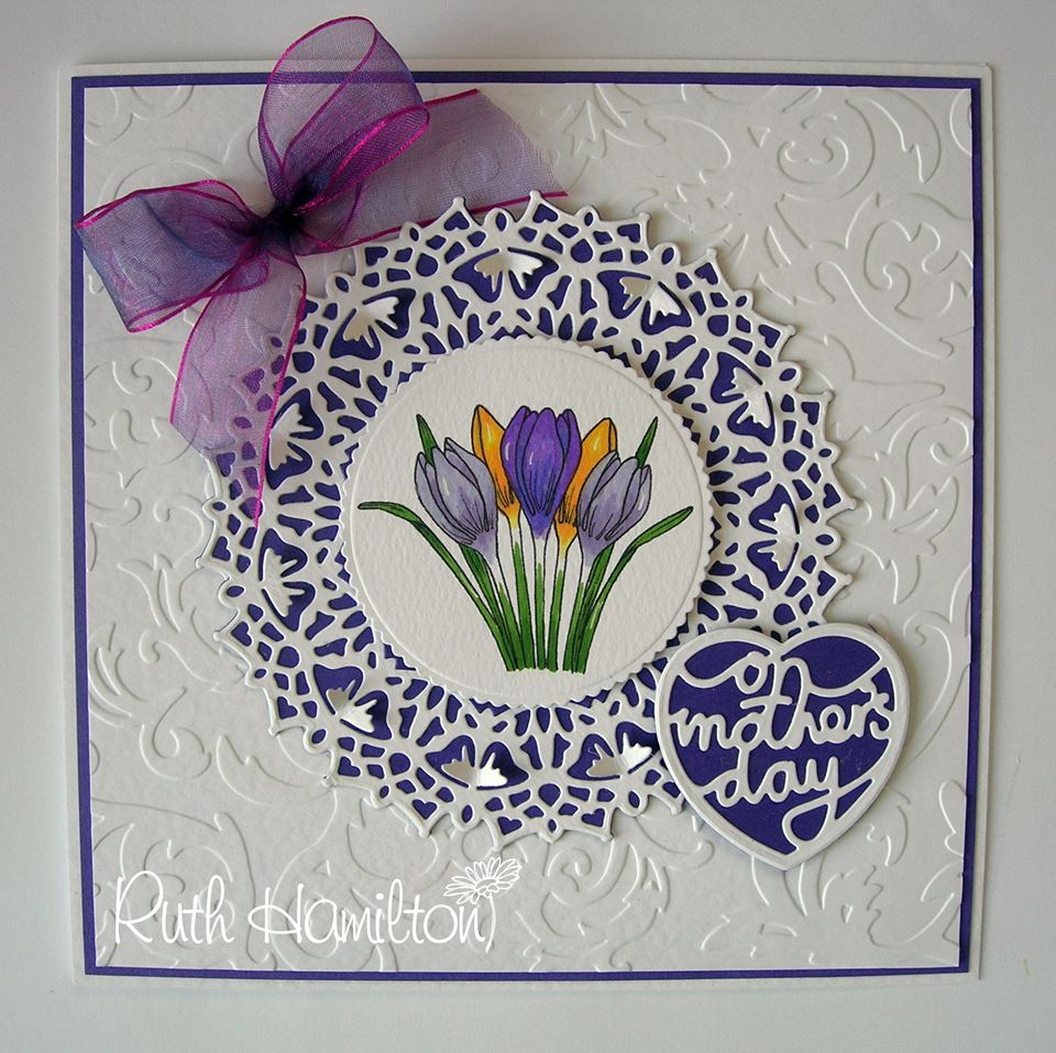Embossed mothers day card