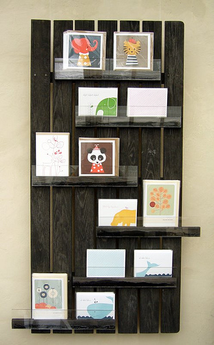 recycled card display