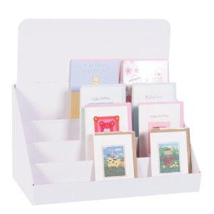 Cardboard card display stand