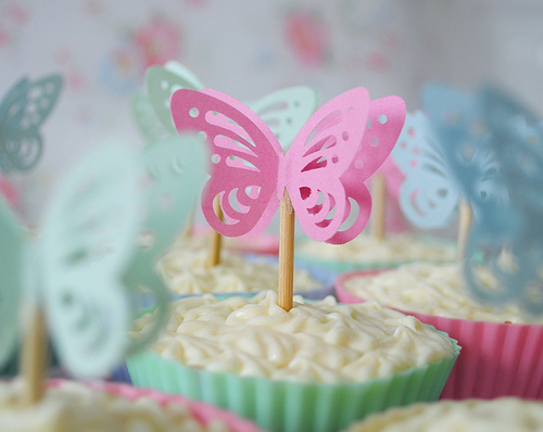 Paper Butterfly cupcake toppers