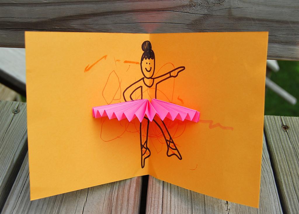 Pop up ballerina card tutorial