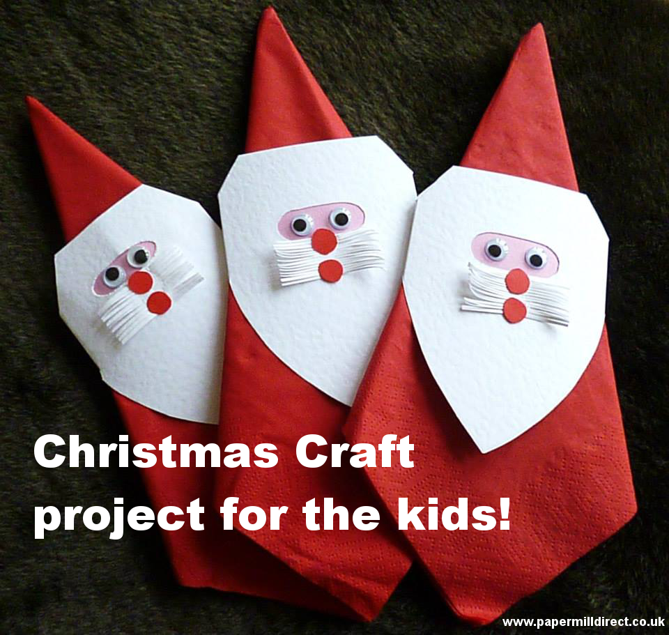 Craft tutorial cute father christmas napkin rings publicscrutiny Images