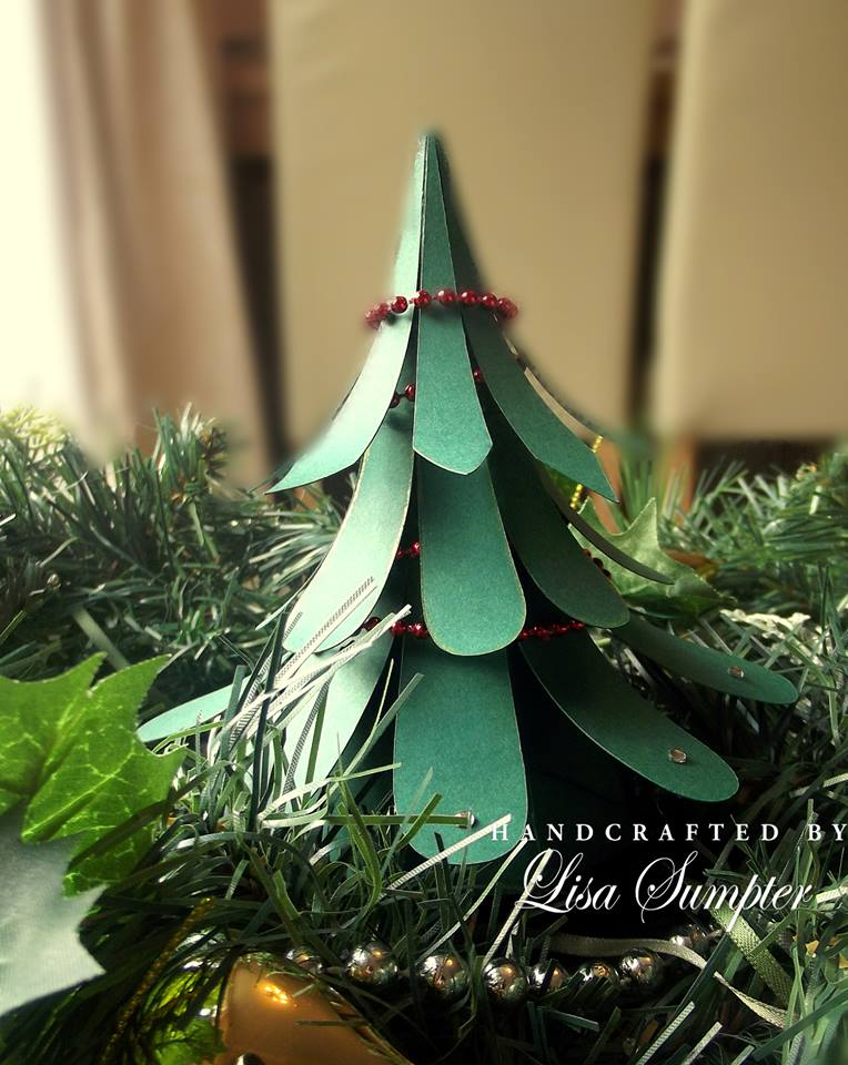 handmade paper christmas tree