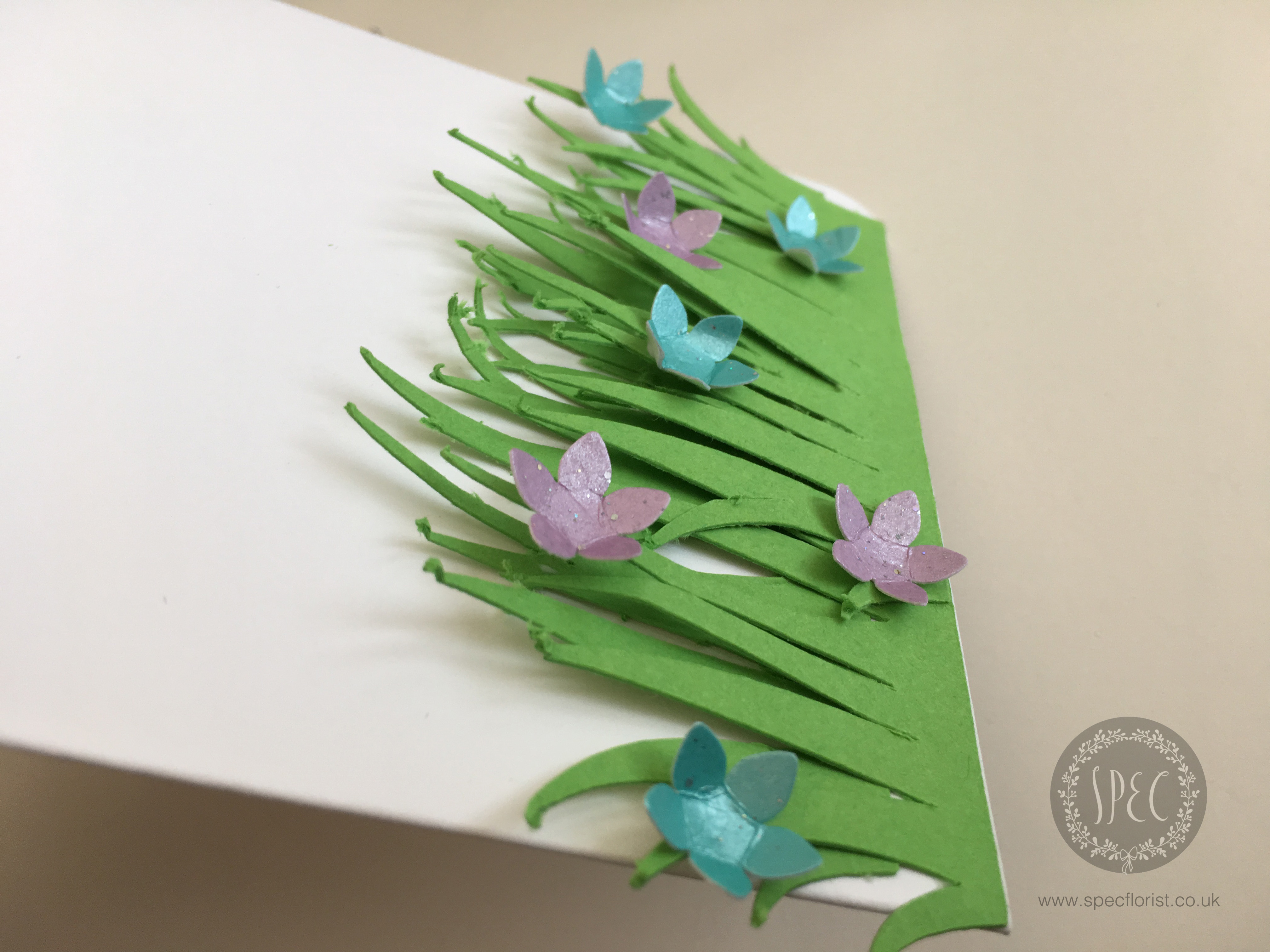 Paper grass and flowers