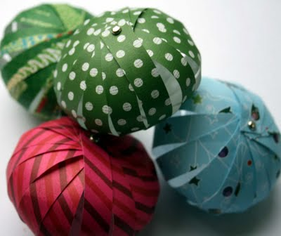 Paper Bauble tutorial