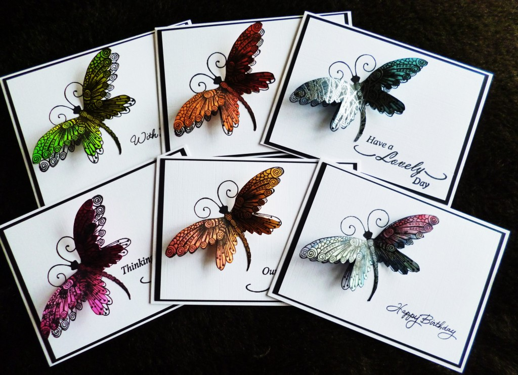 Pretty butterfly design handmade crads
