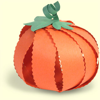 Paper Pumpkin Tutorial