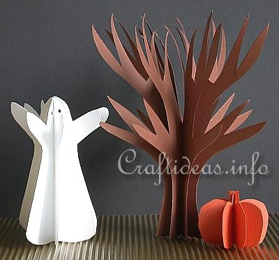 3d Paper Halloween Decorations