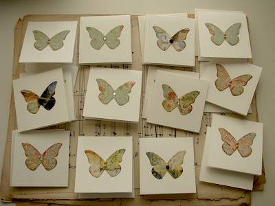 Paper butterfly handmade cards