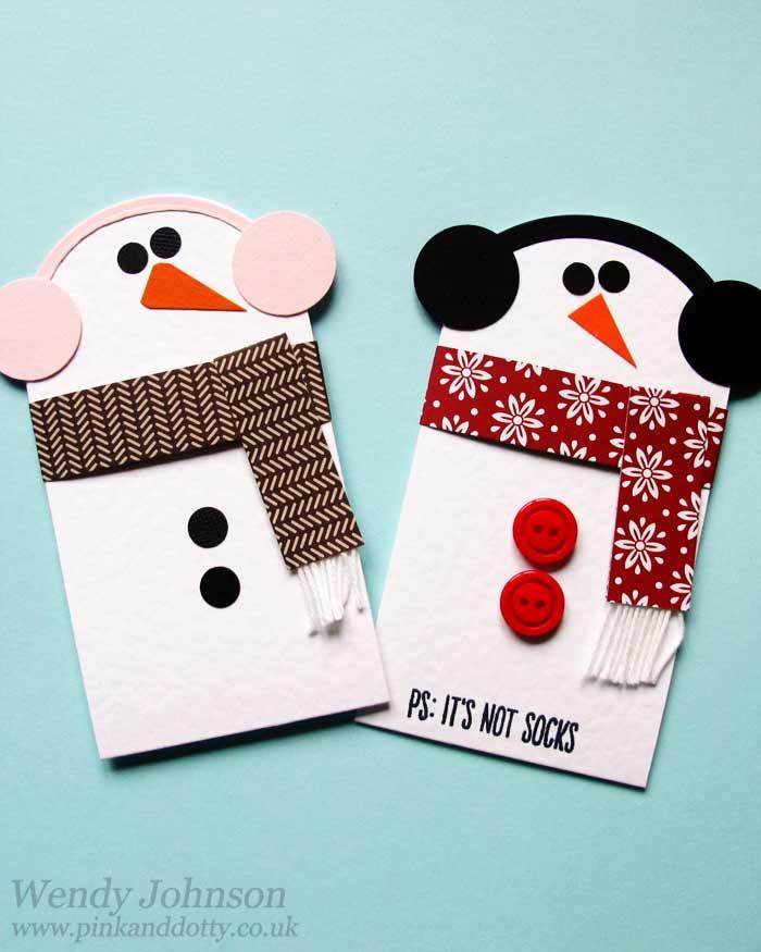 Diy Christmas Gift Card Holder: Snowman Gift Card Holder