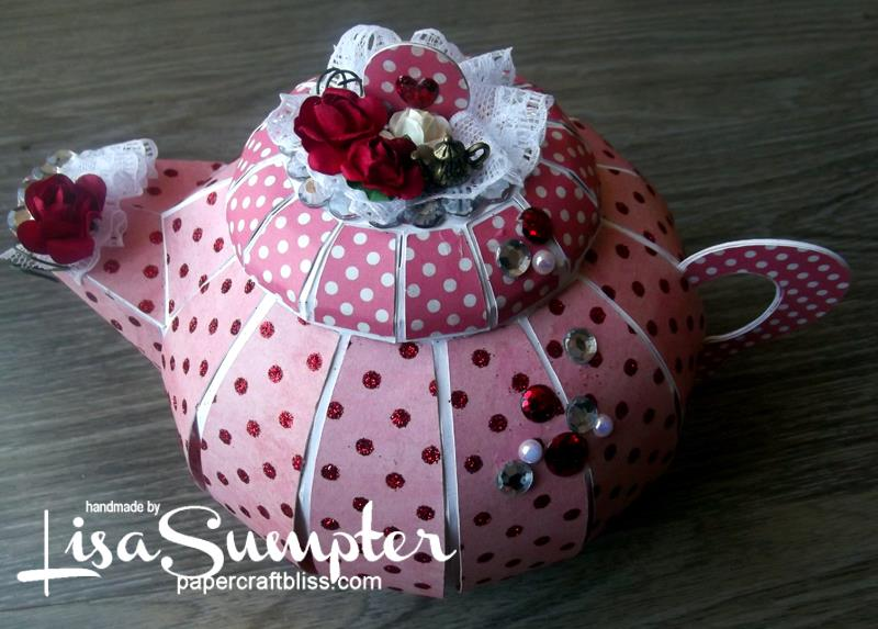 Teapot time for tea gift box paper craft