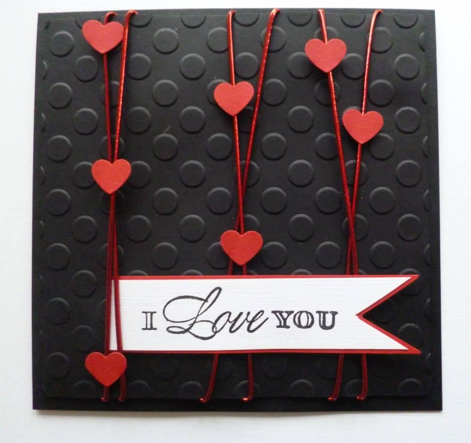 Valentines day handmade card idea