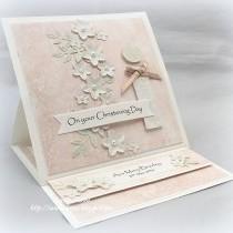 Pinterest Inspired Easel Christening Card