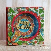 Bohemian Birthday Double Tent Card Step By Step Tutorial
