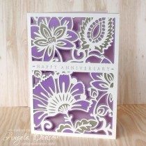 Anniversary Card Tutorial using Lustre Print Silver Papers