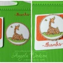 Giraffe Thank You Card using Digi Images - Step by Step Tutorial