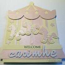 Carousel Baby Card