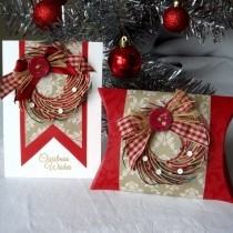 Gift Box And Card In Traditional Colours