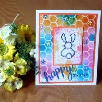 Bright and Bubbly Bunny Easter Card