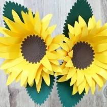 Sunflowers using sunflower card