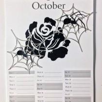 Halloween calendar and decor
