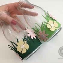 Decorating milk bottle vases - Easter Crafts