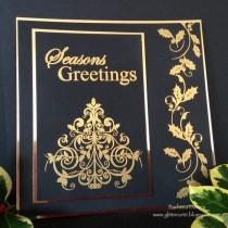 Black & Gold Elegant Card for Christmas