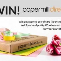 Win a box of card and 3 sets of Woodware stamps!