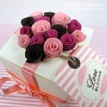Valentine Gift Box - Rolled Flowers Tutorial