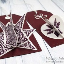 Christmas Gift Tags - Dark Red