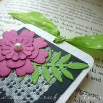 Paint Stamped Floral Bookmark Tutorial