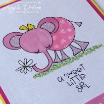 A Sweet Little Girl…..back to basics New Baby card