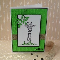 Hello Card made with Free Crafts Beautiful Safari Printables