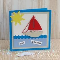 Bon Voyage Card - Step by Step Tutorial