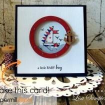 Card Tutorial - Clean & Simple Baby Card