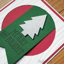 Merry and Bright Christmas Card Idea