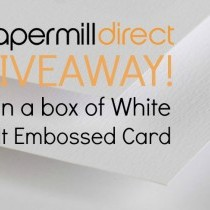 Win a FREE Box of Felt Embossed Card - 80 Sheets!