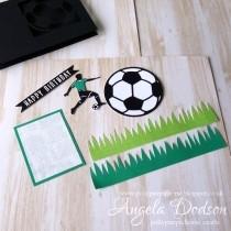Make a football themed birthday card