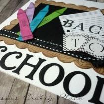 Back To School Blackboard Card