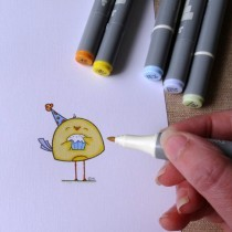 Cute Happy Birthday Card using Free Digi Download - Step By Step Tutorial