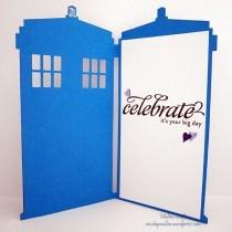 Non traditional wedding card - Dr Who Tardis!