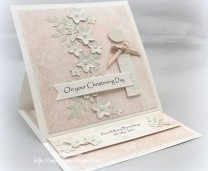 Pinterest Inspired Easel Christening Card