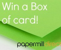 Win a Box of Card - Green Laid Embossed