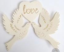 Birds of love card