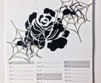 Halloween calendar and decor