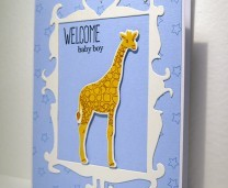 New Baby Card Idea with Altenew BabyZoo stamp set