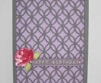 Fun Birthday Card - Flecked Lilac