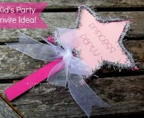 Princess Wand Kid's Party Invite Idea