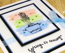 Simple Spring Watercolour Wash Card - Step By Step Tutorial